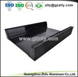Extrusión de Aluminio personalizado para el disipador de calor del radiador de equipos de audio para coche