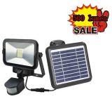 太陽電池パネルが付いている屋外の照明太陽PIR LEDフラッドライト