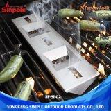 경량 휴대용 스테인리스 BBQ 석쇠 흡연자 상자