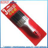 3pcs Mezcla mango de plástico o madera de las cerdas del cepillo de la economía establece