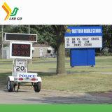 P10 Affichage LED solaire VMS Remorque de trafic
