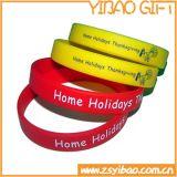 Bracelet non périssable fait sur commande de silicones pour des cadeaux de promotion