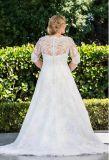더하기 크기 에이라인 신부 드레스 복장 주문 레이스 결혼 예복 2018 Z7034