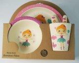 Enfants réglés cuvette de vaisselle respectueuse de l'environnement de gosses et jeu de vaisselle de plaques