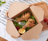 Emporter le cadre remplaçable biodégradable de papier d'emballage de cadre de déjeuner de caisse d'emballage de nourriture
