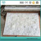 Ardesia naturale di marmo bianca delle mattonelle di mosaico di Bianco Carrara per la cucina Backsplash/il comitato parete della stanza da bagno/pietra coltivata/Ledgestone/pavimento stanza da bagno/della decorazione