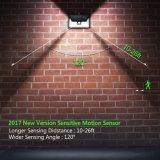 luz ao ar livre solar impermeável sem fio da parede do diodo emissor de luz do sensor de movimento 34LED