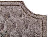 Botão europeu tufados cama em pele para o quarto