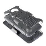3 in 1 Militärart-zukünftiger Standplatz-Rüstungs-Auswirkung-schroffer Riemen-kombiniertem Kasten für Moto G5 Auto-Telefon-Halter-Kasten