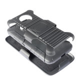 Moto G5車の電話ホールダーの箱のための1つの軍様式の未来の立場の装甲影響険しいベルトのコンボの箱に付き3つ
