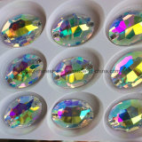 De ovale Toebehoren van de Daling van de Bergkristallen van de Parels van Kristallen Lange naaien voor Stenen 2 van de Kleding Gat (tP-Ovaal bergkristal)