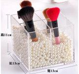 Contre- support de balai acrylique clair de renivellement, 4 fentes