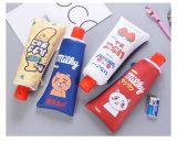 Grand sac en cuir de crayon d'unité centrale avec les fournitures de bureau mignonnes de Pencilcase de papeterie de support de crayon lecteur de trousse d'écolier d'école d'affûteuse F437