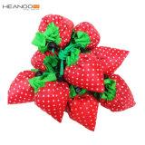 中国のかわいいいちごの形のカスタムFoldableナイロンショッピング・バッグ