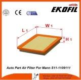 Filtro de ar da peça de automóvel para Mann S11-1109111