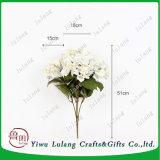 Nuevo diseño de Venta caliente blanco Artificial Hydrangea grandes cabezas de flores artificiales de seda para desmalezar Decoración