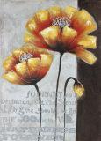 대중적인 꽃 홈 훈장 유화