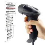 De Automatische Lezer van de Streepjescode van de Streepjescode van het Aftasten van de Scanner van de Streepjescode USB met de Vrije Regelbare Tribune van Handen (Zwart-witte) Mj2808at