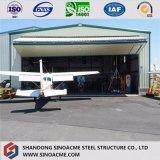 Hangar Prefab sísmico Anti-Rain e forte do helicóptero da construção de aço da resistência