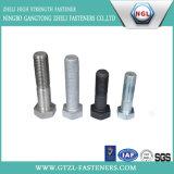 DIN 933/ASTM A325通された十六進ボルト十分にか半分の