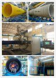 Estirador plástico del enrollamiento del espiral del tubo de la depresión del HDPE que hace la máquina