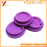 Цвет крышки кофейной чашки качества еды силикона пурпуровый (XY-FL-175)