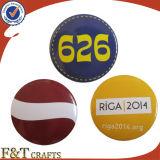El botón de encargo del metal de la promoción Badges alrededor de divisa del botón