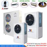 L'eau commerciale de pompe à chaleur d'air de 12kw 19kw 35kw 70kw 105kw