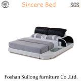 Lb3313 진짜 가죽 현대 침대