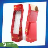 Supermarché présentoir en carton avec crochets pour bijoux de clignotement de la Chine Présentoir de sol en carton fabricant