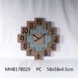 Нерегулярные MDF металлической стенки часы для дома украшения