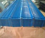 Azul/Gris corrugado Prepainted Hoja de Acero Galvanizado/Metal de hoja de techo