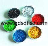 Couleur en plastique Masterbatch de granules pour le matériau de Builing