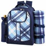 毛布を持つ実用的な方法ピクニックパック袋のバックパック4人