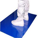Estera pegajosa lavable del silicón azul del recinto limpio