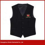 Maglia poco costosa su ordinazione del nero del cameriere del ristorante dell'hotel della fabbrica di Guangzhou (V14)