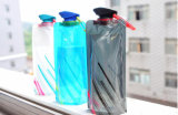 Botella de agua plegable plegable de encargo del recorrido de 700 ml
