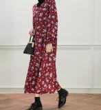 Damas moda plisada falda larga recta