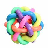 Haustier-Hundekatze-Spielzeug-bunte runde Gummikugel mit Bell