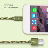 Vendas quente camuflados e cabo de dados USB verde