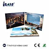 Heißer Verkauf! 7 Zoll LCD-videobroschüre im Druck, Digital-videogruß-Karte/Geschenk-Karte
