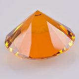 Diamant clair de verre cristal avec la base en cristal