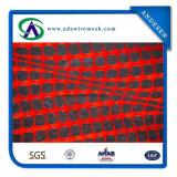 Barriera di sicurezza di plastica della rete fissa arancione della barriera d'avvertimento