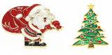 デザインクリスマス亜鉛合金のバッジの父のクリスマスの折りえりPinを解放しなさい