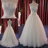 Атласная белая плакатная бумага Strapless кружева устраивающих платье свадебные платья Сделано в Китае