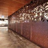 Diviseurs insonorisés en métal de pièce décorative faite sur commande de restaurant