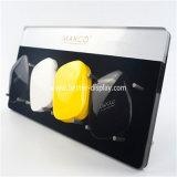 Stand acrylique en plastique clair fait sur commande de côté de pouvoir