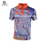 De goedkope Mensen van de T-shirt van de Sporten van de Sublimatie van de Sportkleding van de Douane drogen het Geschikte Overhemd van het Polo