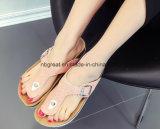 Bon marché à l'aise Glitter Fashion sandales Mesdames Glitter pantoufles