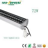Luz al aire libre de la arandela de la pared de la venta caliente 72W LED para la iluminación de la configuración